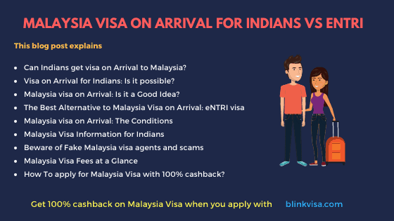 Malaysia visa on Arrival for Indians – Good or Bad
